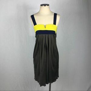 💸 Alisha Levine Color Block 100% Silk Dress